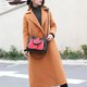 Stylish Elegant PU Leather Square Tote Bag Crossbody Bag For Women