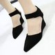 Wedge Heel Blocking Hook-Loop Sandals