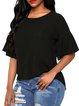 Plus Size Casual Spandex T-Shirt