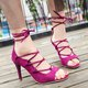 Casual High Heel Lace-up Sandals