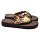 Casual Silk Fabric Flat Heel Slippers