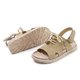 Daily Flat Heel Nubuck Lace-up Sandals