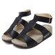 Wedge Heel Adjustable Buckle PU Sandals