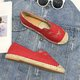 Casual Flat Heel Daily Slip On Cloth Loafers