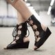 Casual Summer Lace-up Wedge Heel Sandals