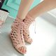Lace-up PU Daily Summer Sandals