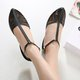 Casaul Hollow Out Solid Color Flat Shoes