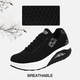 Breathable Mesh Fabric Lace-up Platform Sneakers