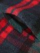 3/4 Sleeve Paneled Casual Checkered Sweatshirt