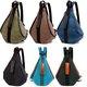 Women Durable Canvas Backpack Retro Shoulder Crossbody Bag Satchel Rucksack