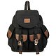 Vintage Women Versatile Canvas Leather Patchwork Hiking Travel Military Backpack