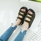 Platform Artificial Suede Dress Magic Tape Sandals