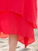 Women Elegant Dress Crew Neck Shift Daytime Paneled Plain Dress