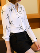 Printed Casual Stars Stand Collar Blouse