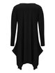 Women Casual Dress Crew Neck Asymmetrical Daytime Long Sleeve Pockets Dress