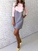 Women Daily 3/4 Sleeve Casual Plain Summer Dress