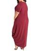 Women Casual Dress Crew Neck Asymmetrical Going out Short Sleeve Casual Dress