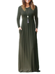 Women Daily Long Sleeve Casual Wool blend Plain Fall Dress