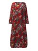 Shift Women Daytime Cotton Casual Printed Floral Casual Dress