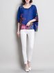 Floral Batwing Chiffon T-Shirt