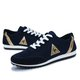 Flat Heel Cloth Lace-up Casual Sneaker