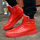 Men Lace-up PU Casual Flat Heel Boots