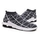 Flat Heel Flyknit Fabric Athletic Sneakers
