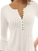Crew Neck Casual Frill Sleeve Plus Size Ruched Blouse