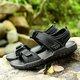 Men Large Size Leather Hook Loop Slip Resistant Outdoor Casual Sandals