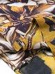 Yellow Shift Women Chiffon Half Sleeve Asymmetric Floral Elegant Dress