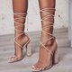 Large Size Ankle Strap Chunky Heel Pumps