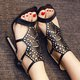 Stylish Hollow Out Thin Heeled Sandals Pumps