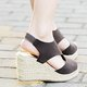 Casual Elastic Band Creepers Wedges For Women