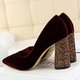 Sexy Sequins Suede Pointed Tip Wedding Party High Heel Pumps
