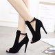 Peep Toe Cut Out High Heeled Sandals Pumps