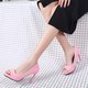 Graceful Spool Heel Artificial Leather Daily Pumps