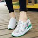Platform Athletic Hollow-out Wedge Heel Sneakers