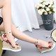 PU Casual Wedge Heel Sequin Sandals
