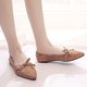 Bowknot Flocking Slip On Daily Casual Flats