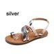 Casual Flat Heel Slip On Sandals