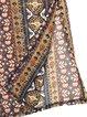 Stylish Slit Geometric Printed Chiffon Pants