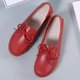 Leather Flat Heel Bowknot Slip On Daily Flats
