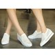Flat Heel PU Slip On Hollow-out Loafers