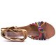 Plus Size Lace-up Flocking Wedge Heel Sandals