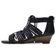 Wedge Heel Casual Daily Lace-up Zipper Sandals