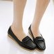 Slip On Leather Casual Flats