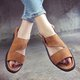 Casual Adjustable Buckle Flat Heel Daily Sandals