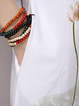 Women Daytime Elegant Short Sleeve Cotton Paneled Elegant Dress