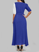 V neck   Women Party Cotton Casual  Prom Dress