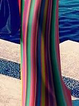 One Shoulder Red Sheath Women Beach Holiday Paneled Striped Summer Dress